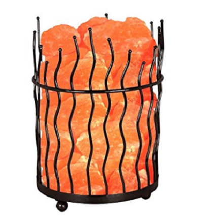 Himalayan Large Pillar shaped Salt Basket Lamp
