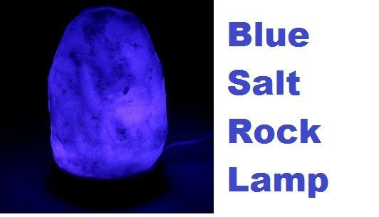 blue salt rock lamp