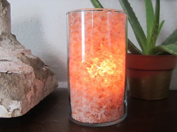 diy pink salt lamp
